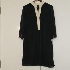 Black and Cream sheath Dress